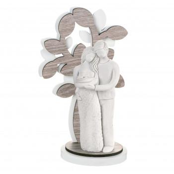 Bongelli Preziosi Scultura da tavolo piccola con raffigurazione della famiglia con neonato Sogno     ME1645/2RO