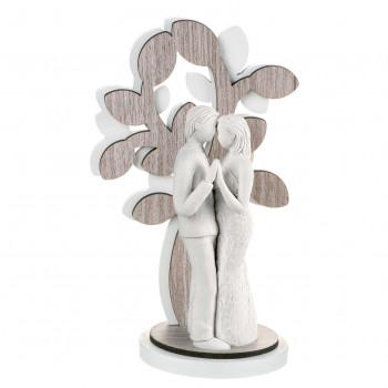 Bongelli Preziosi Scultura da tavolo grande con coppia di innamorati con albero della vita Sogno Rovere Breeze    ME1639/3RO