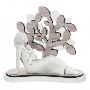 Bongelli Preziosi Scultura da tavolo moderna con albero della vita in radica Sogno Rovere Breeze    ME1648/2RO