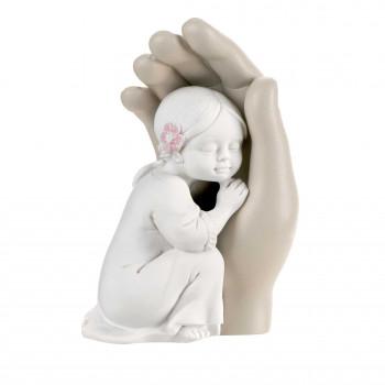 Bongelli Preziosi Bomboniera Battesimo - Scultura Bambina abbracciata      ME1692/