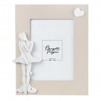 Bongelli Preziosi Bomboniera Vari Eventi - Portafoto da tavolo in legno con ballerina  Avorio