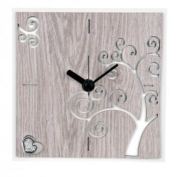 Bongelli Preziosi Orologio da tavolo piccolo con pannello in legno rovere per soggiorno      ME1338/RO