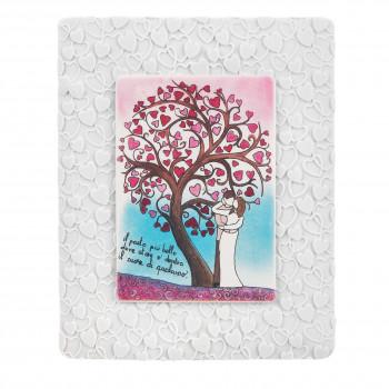 Bongelli Preziosi Bomboniera Vari Eventi - Quadretto piccolo con albero della vita e innamorati      ME1845