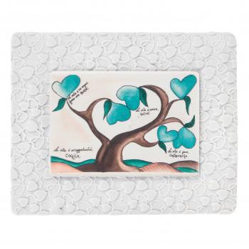 Bongelli Preziosi Bomboniera Vari Eventi - Quadretto piccolo con albero della vita verde      ME1853