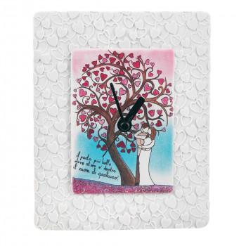 Bongelli Preziosi Orologio da tavolo per cameretta bambini con albero della vita e innamorati      ME1846
