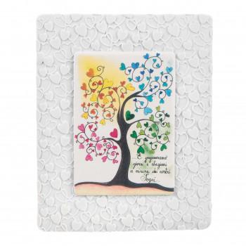 Bongelli Preziosi Bomboniera Vari Eventi - Quadretto piccolo con albero della vita colorato      ME1843