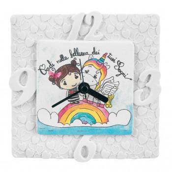 Bongelli Preziosi Orologio da tavolo per cameretta bambini con unicorno portafortuna      ME1807