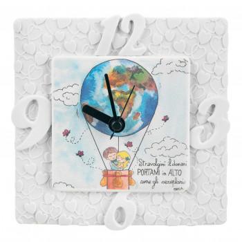 Bongelli Preziosi Orologio da tavolo per cameretta da bambini con mongolfiera e dedica      ME1841