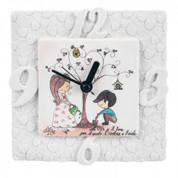 Bongelli Preziosi Orologio da tavolo per cameretta bimbi con albero della vita e dedica      ME1838