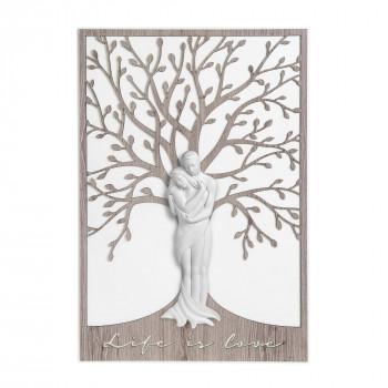 Bongelli Preziosi Quadro moderno in legno grande con coppia di innamorati abbracciati      ME1948/2