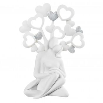 Bongelli Preziosi Scultura da tavolo in stile moderno con coppia innamorati e cuori  Argento    ME1939
