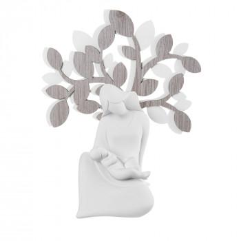 Bongelli Preziosi Scultura da tavolo con maternità seduta e albero della vita  Rovere Breeze    ME1941/RO