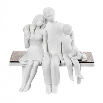 Bongelli Preziosi Scultura da tavolo in stile moderno con la famiglia seduta  Bianco    ME1934
