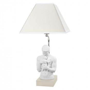 Bongelli Preziosi Lampada da tavolo moderna con scultura abbraccio paterno      ME1930