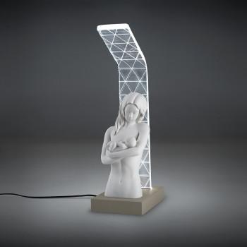 Bongelli Preziosi Abat jour moderna a LED con scultura abbraccio di mamma      ME1925