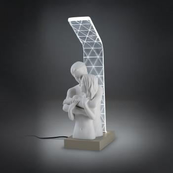 Bongelli Preziosi Abatjour lampada da comodino a LED con scultura di innamorati      ME1923
