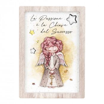 Bongelli Preziosi Bomboniera Comunione - Angeli dei Sogni con stelline Femmina  Rovere Breeze    ME1993/F