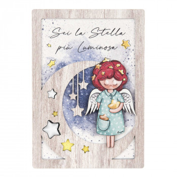 Bongelli Preziosi Bomboniera Comunione - Angeli dei Sogni con stella Femmina  Rovere Breeze    ME1990/F