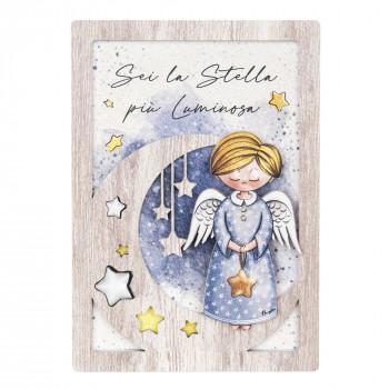 Bongelli Preziosi Bomboniera Comunione - Angeli dei Sogni con stella Maschio  Rovere Breeze    ME1990/M