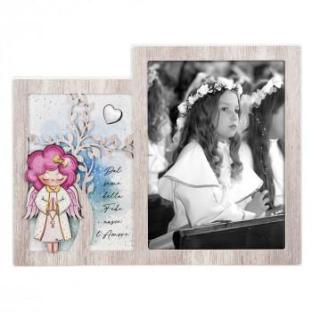 Bongelli Preziosi Bomboniera Comunione - Angeli dei Sogni con cuore Femminuccia  Rovere Breeze    ME1999/F