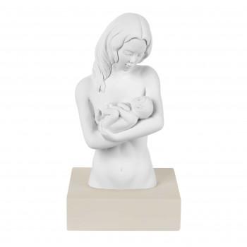 Bongelli Preziosi Scultura da tavolo in marmorino con base e la famiglia abbracciata      ME2078
