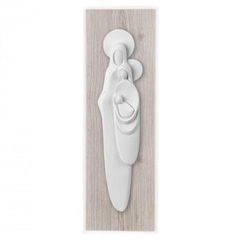 Bongelli Preziosi Capezzale moderno con sacra famiglia in marmorino e panello in legno      ME2103