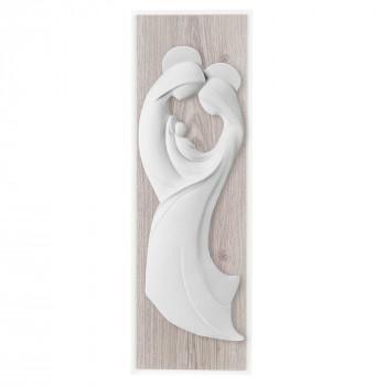 Bongelli Preziosi Capezzale con sacra famiglia moderno in marmorino e panello in legno      ME2104