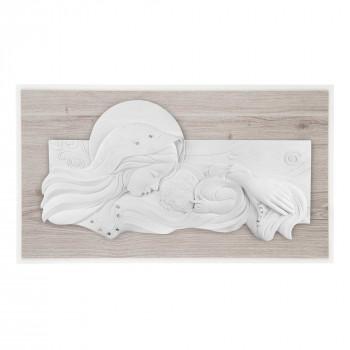 Bongelli Preziosi Capezzale moderno con la maternità in marmorino e pannello in legno      ME2106