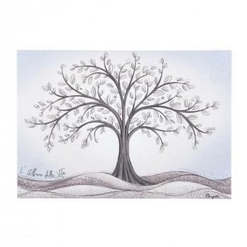 Bongelli Preziosi Bomboniera Vari Eventi - Quadretto con albero della vita  Celeste    ME2099/1CP