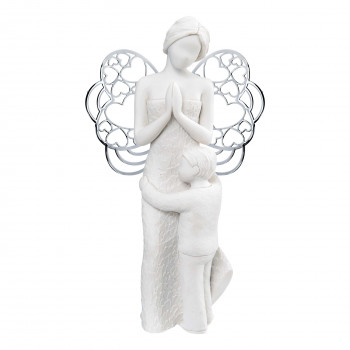 Bongelli Preziosi Bomboniera Comunione - Scultura grande angelo e bambino abbracciati      ME1651/2