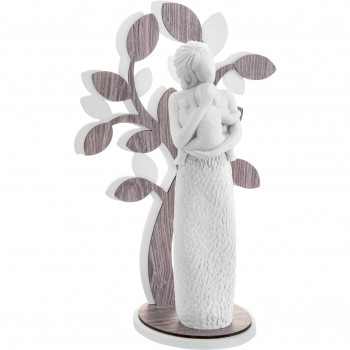 Bongelli Preziosi Scultura da tavolo grande con raffigurazione della maternità e albero della vita Sogno Rovere Wengè    ME1647/3RO