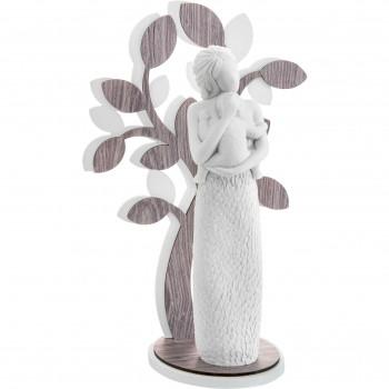 Bongelli Preziosi Scultura da tavolo piccola raffigurazione della maternità e albero della vita Sogno Rovere Wengè    ME1647/2RO