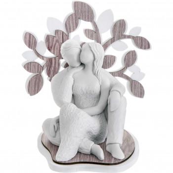 Bongelli Preziosi Scultura da tavolo con coppia di innamorati abbracciati e albero della vita Sogno     ME1641/2RO