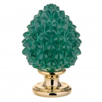 Bongelli Preziosi Pigna siciliana portafortuna decorata a mano portafortuna media  Verde    ME1599/2V