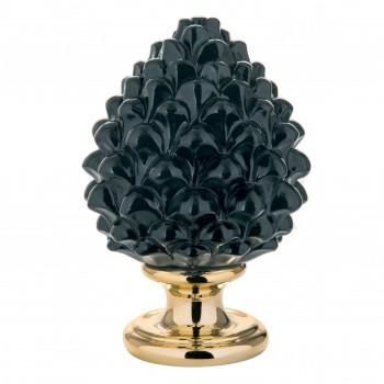 Bongelli Preziosi Pigna siciliana portafortuna decorata a mano portafortuna piccola  Nero    ME1599/1NERO