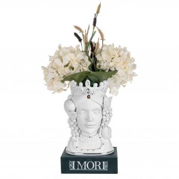 Bongelli Preziosi Testa di moro femminile decorata a mano in stile moderno  Bianco    ME1882