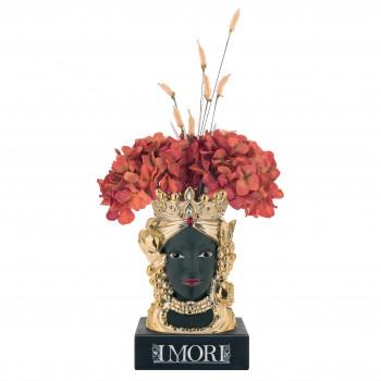 Bongelli Preziosi Testa di moro femminile in stile moderno decorata a mano  Oro    ME1878/OR