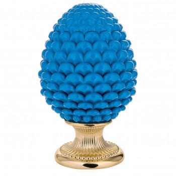 Bongelli Preziosi Pigna siciliana portafortuna decorata a mano portafortuna grande  Blu    ME1875/BL