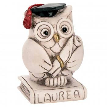 Bongelli Preziosi Bomboniera Laurea - Statuina in ceramica gufetto portafortuna      RS203