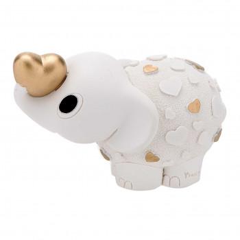 Bongelli Preziosi Bomboniera Vari Eventi - Elefantino portafortuna con cuore dorato      ME1140