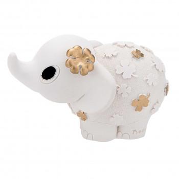 Bongelli Preziosi Bomboniera Vari Eventi - Elefantino portafortuna con fiorellino dorato      ME1141