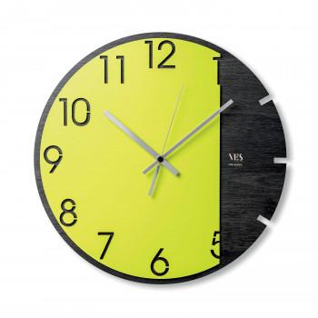 """Ves Design Orologio da parete moderno in legno per soggiorno o salotto """"Spring Moon"""" Istanti     L05R13"""