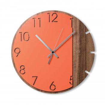"""Ves Design Orologio da parete in legno dal design moderno per soggiorno """"Coral Moon"""" Istanti     L05R12"""