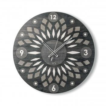 """Ves Design Orologio da parete in legno dallo stile moderno per salotto """"Arabesque"""" Istanti     L05R31"""