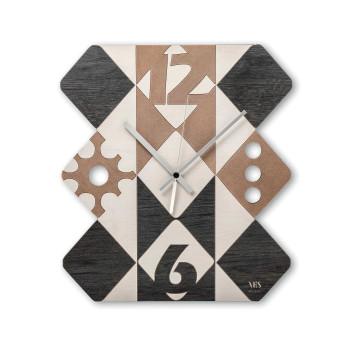 """Ves Design Orologio da parete in legno dal design moderno per salone """"Argyle"""" Istanti     L05R08"""