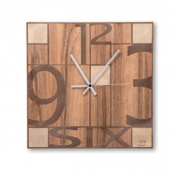 """Ves Design Orologio da parete in legno dal design moderno per salotto """"Mondrian"""" Istanti     L05R01"""