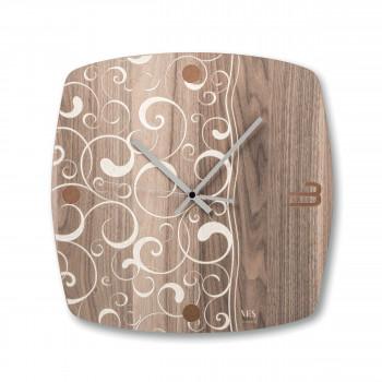 """Ves Design Orologio da parete in legno design moderno per salotto o soggiorno """"Acqua"""" Istanti     L05R16"""
