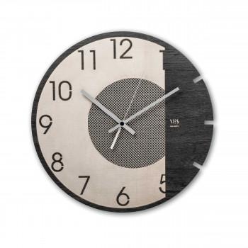 """Ves Design Orologio da parete in legno per salotto dal design moderno """"Dark Moon"""" Istanti     L05R11"""