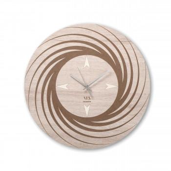 """Ves Design Orologio da parete in legno dal design moderno per soggiorno o cucina """"Aria"""" Istanti     L05R18"""