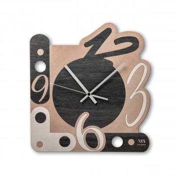 """Ves Design Orologio da parete in legno in stile moderno """"Numbers"""" Istanti     L05R06"""